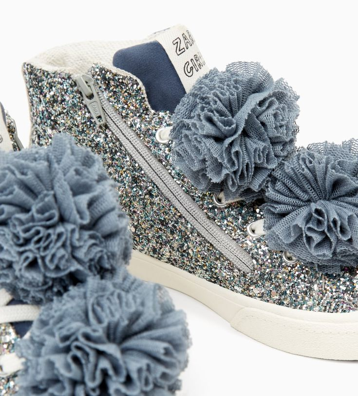 POMPOM HIGH TOP SNEAKERS-SHOES-GIRL | 5 - 14 years-KIDS-NEW COLLECTION | ZARA Belgium