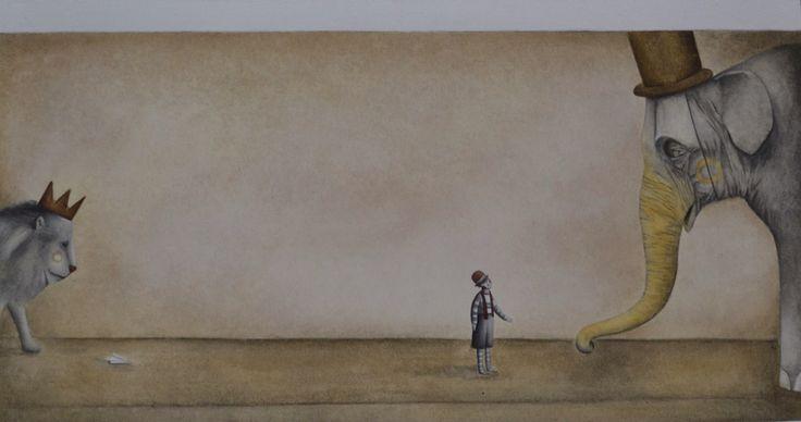 """Copia di un'illustrazione del libro """"Il grande viaggio"""".  Illustratore: Gabriel Pacheco."""