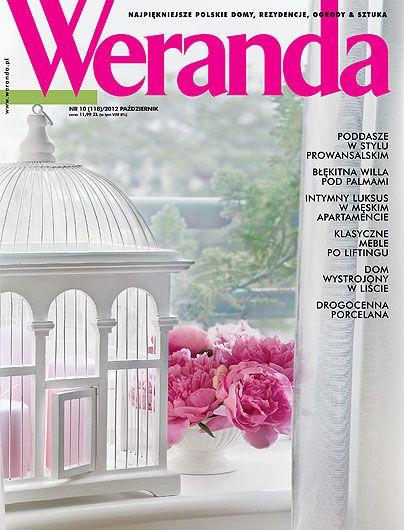 Okładka magazynu Weranda 10/2012 www.weranda.pl