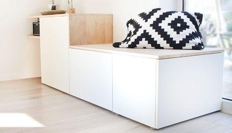 Do it yourself: Aus Besta und Holz wird ein Sideboard mit Sitzbank – Mona Muskat