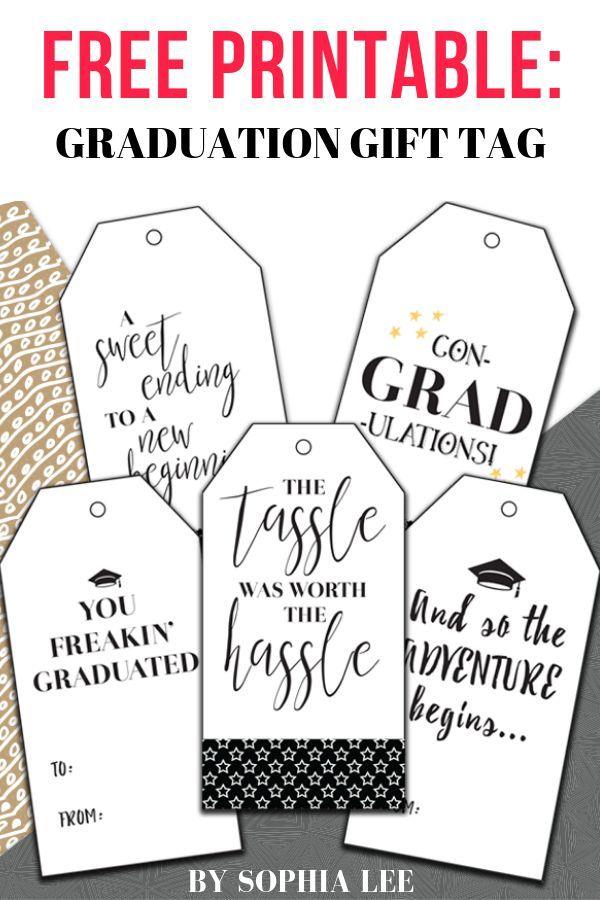 Best Free Printable Graduation Gift Tags | Graduation ...