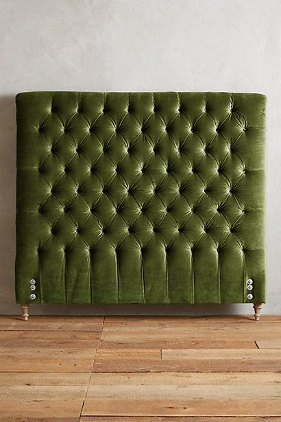 Slub Velvet Orianna Headboard #anthropologie