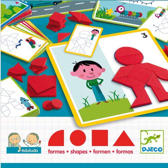 Alakzatok és formák fejlesztő játék- Eduludo Shapes Djeco | Pandatanoda.hu Játék webáruház