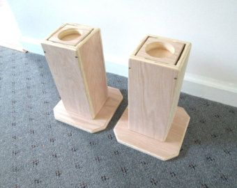 Furniture Risers, Adjustable From 6 Inches To 10 Inches, All Wood  Construction, Unfinished