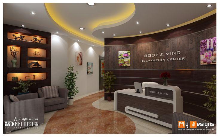 Dubai Massage Center Interior Design Proposal For Body And Mind