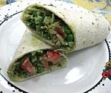 Tuna Pesto Salad Wrap Sandwiches Recipes | Between 2 Pieces of ...