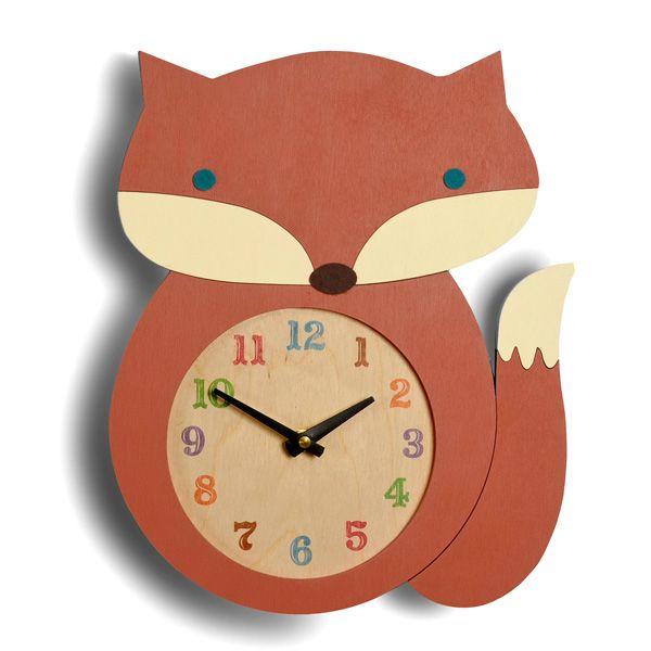 Love this wooden fox clock!