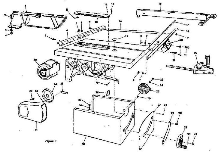 craftsman table saw parts diagram view  ncwoodworker net