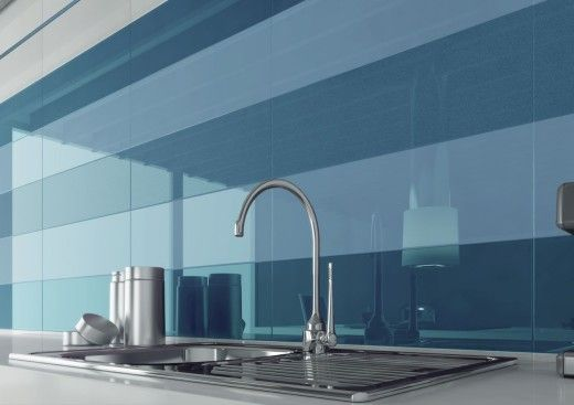 Glossy Colour kitchen tiles - ceramic tiles/liquid finishes