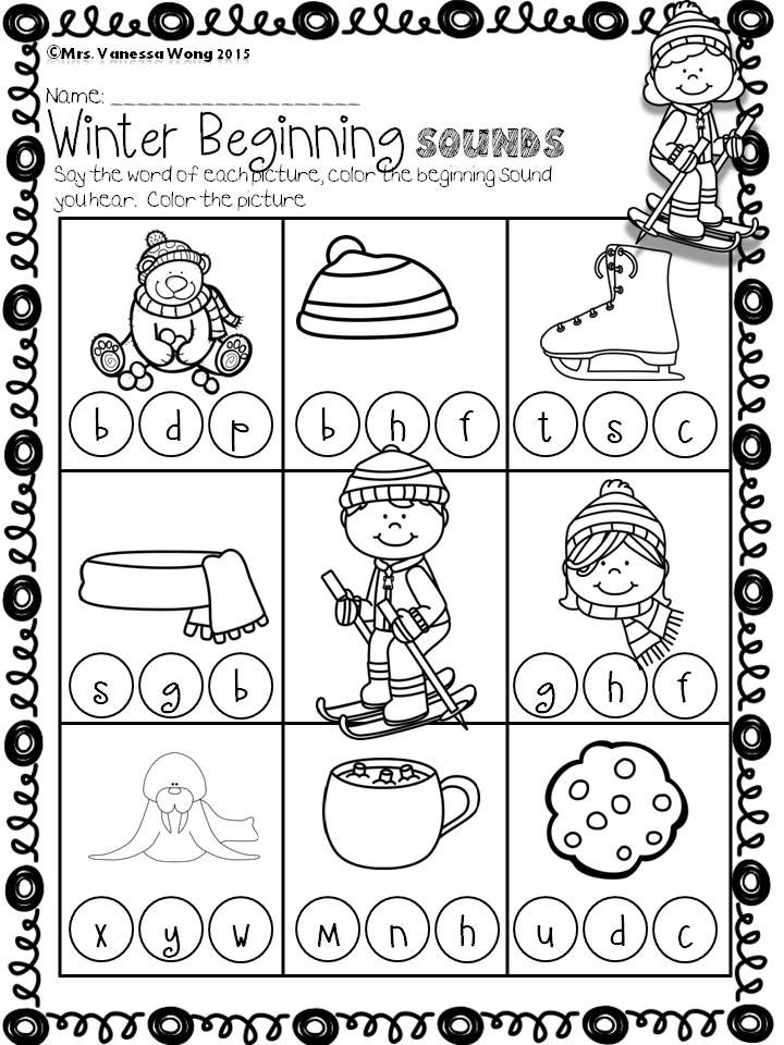 winter math and literacy worksheets and activities no prep kindergarten winter idea. Black Bedroom Furniture Sets. Home Design Ideas