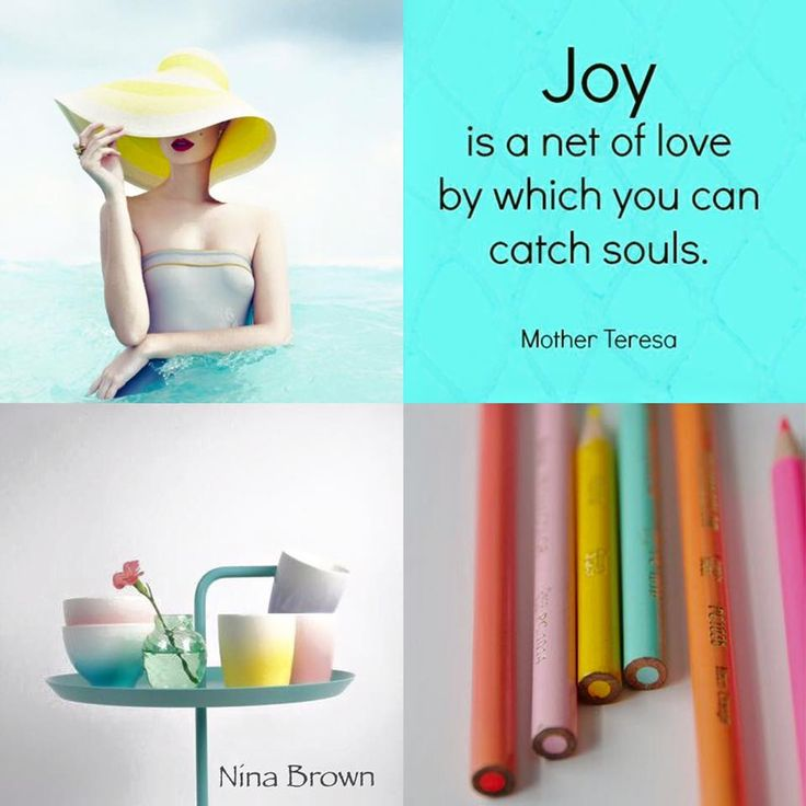 """""""Joy is a net of love by which you can catch souls"""" - Mother Teresa #joy #loveothers https://www.facebook.com/www.ninabrownstylecoach/photos/pb.494961253931382.-2207520000.1458636223./906935556067281/?type=3&theater www.ninabrown.co.za"""