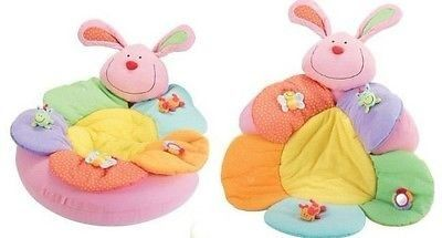 Baby Inflatable Seat Baby Rabbit Play Mat Game Pad Blossom Farm Sit Me up Cosy -- Click image for more details.