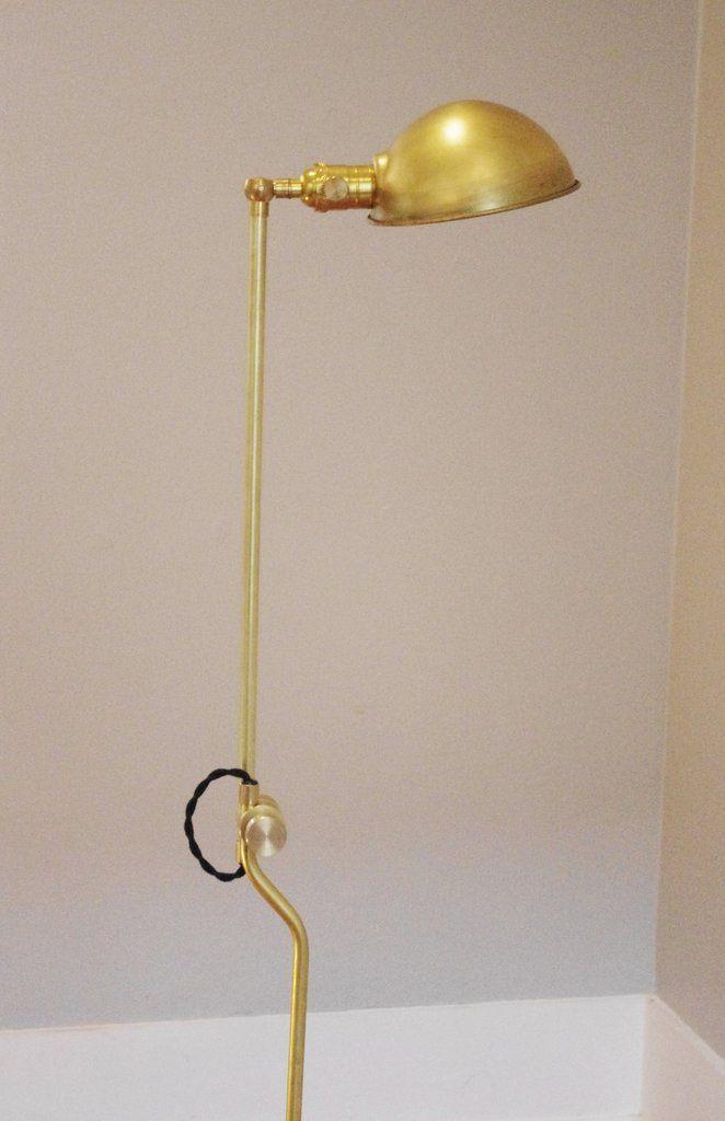 Brass floor lamp with parabolic shade industrial floor lampsbrass floor lampbest