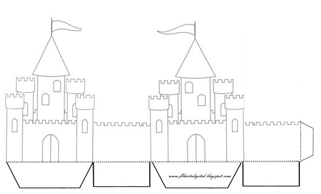 поделка замок из картона своими руками схемы шаблоны одета своем