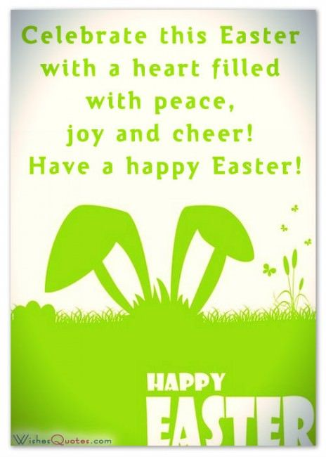 Easter brings us hope, may it linger in our hearts forever. Here's wishing you a very Happy Easter.