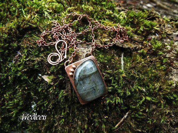 Pendant with labradorite. Fantasy pendant. by JewellerybyWedleen