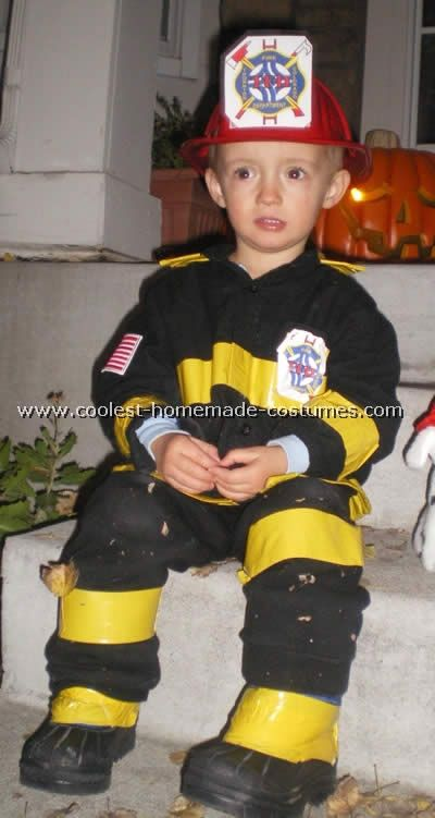 The Personalized Fire Fighter Costume is among the most realistic costumes you'll ever see! Your child will love wearing this high-end kids firefighter costume, complete with tan overalls and a cute jacket with toggle closures, both of which have reflective strips.