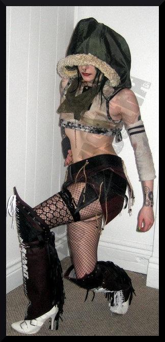 Heavy Leather Apocalypse Rat Bike Boot Covers by PlasticViscera, $80.00
