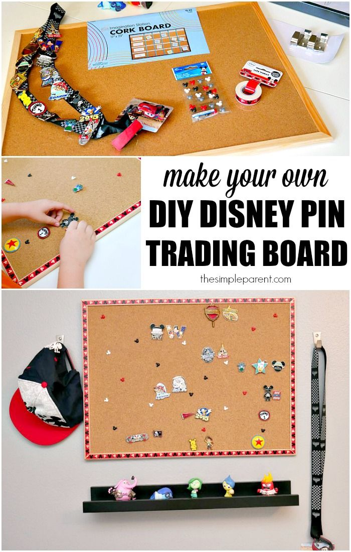 Check out how easy it is to make your own DIY Disney Pin Trading board to display your pin collection!