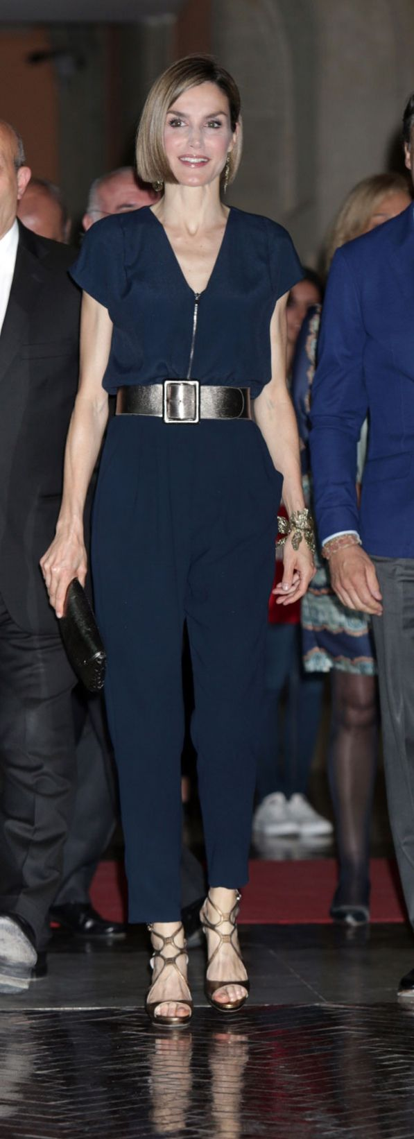 Queen Letizia of Spain attended the Barco de Vapor and Gran Angular Awards ceremony on April 21, 2015 in Madrid, Spain