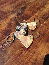 Heart Keychain - $12 - Horn & Bone Collection - All natural materials. Handmade in Haiti. Support job creation in Haiti! Shop @ elishac.com