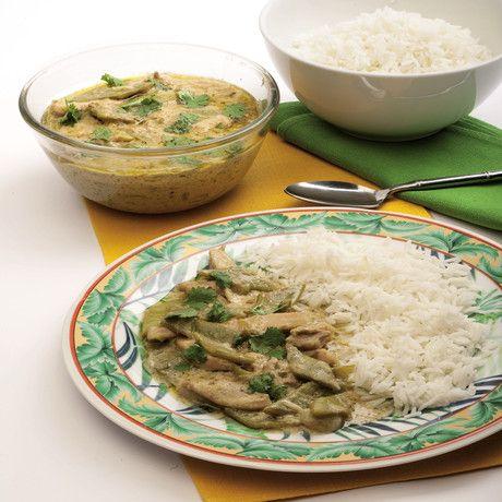 Ricetta Pollo al curry verde