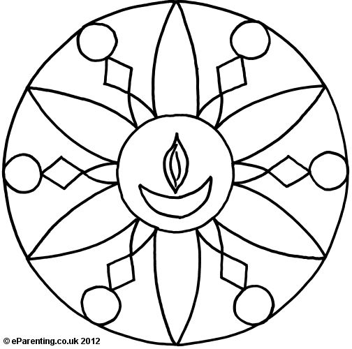 Diwali Colouring Pages For Kids
