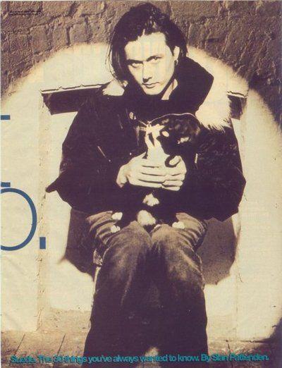 Brett Anderson - cat on lap :)