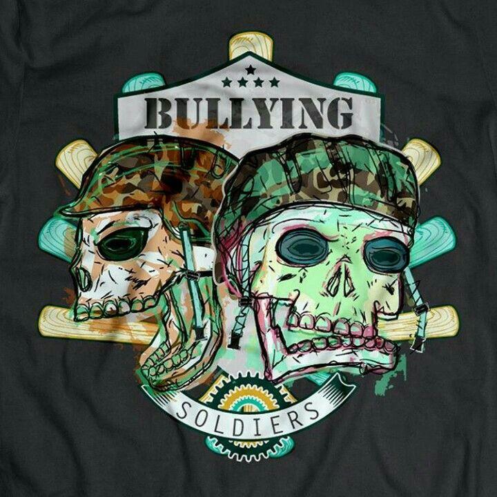 Bullying soldier, t shirt design