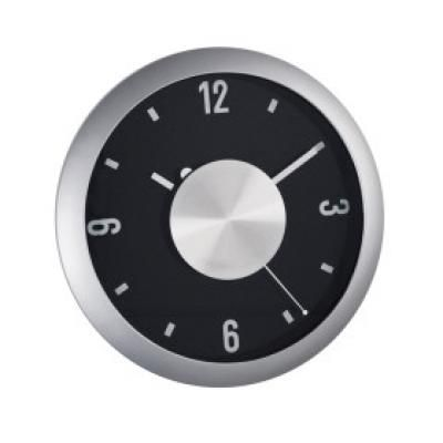 Image of Promotional Wall Clock. Printed Quartz Wall Clock With Funky Aluminium Plate.