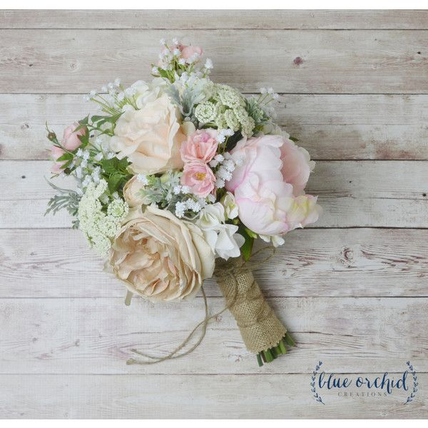 Boho Bouquet, Silk Flower Bouquet, Wedding Bouquet, Bridal Bouquet,... ❤ liked on Polyvore featuring home, home decor, floral decor, silk flower arrangement, silk flowers, wildflower bouquet, fabric flowers and faux flowers