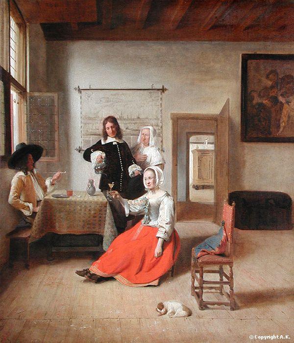 La Buveuse, Pieter de Hooch, 1658 - Dutch Golden Age painter