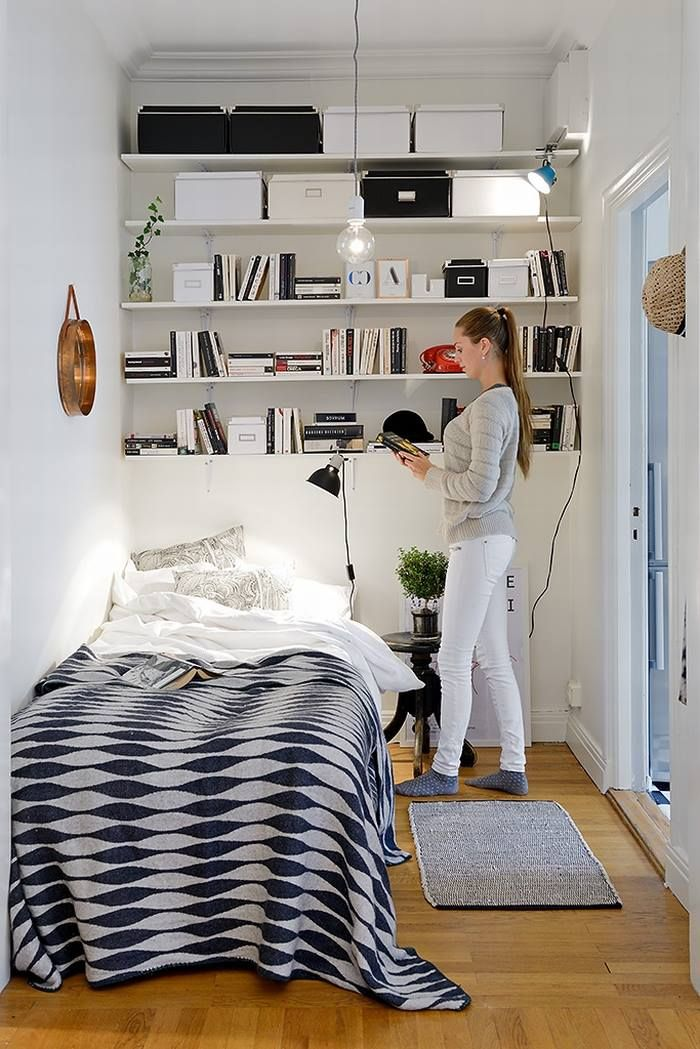 Sometimes A Small Space Can Look Awesome!! Small Bedroom InteriorSmall  Bedroom StorageSmall BedroomsBedroom IdeasVery ...