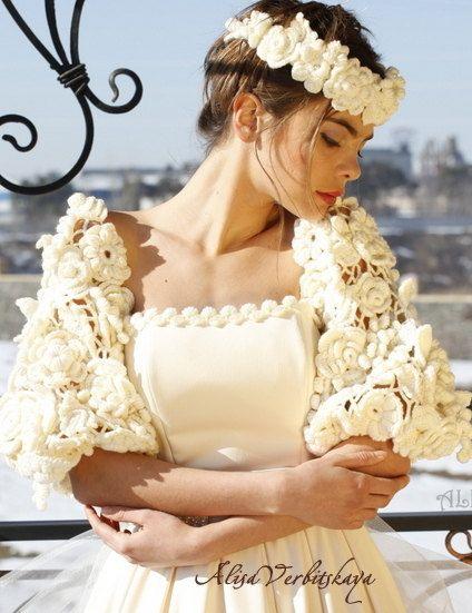 Вязаные рукававенок Свадебное от AlisaSonya на Etsy