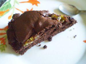 Torta con kiwi e cacao