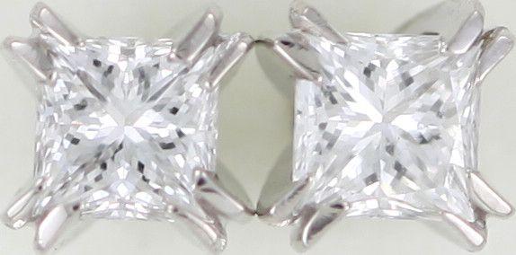 Australian 18ct  Gold Classic Diamond Earrings .20 ct  JAO46  classic diamond earrings in white gold