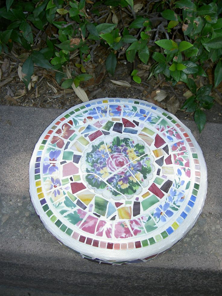 Mosaic stepping stone.