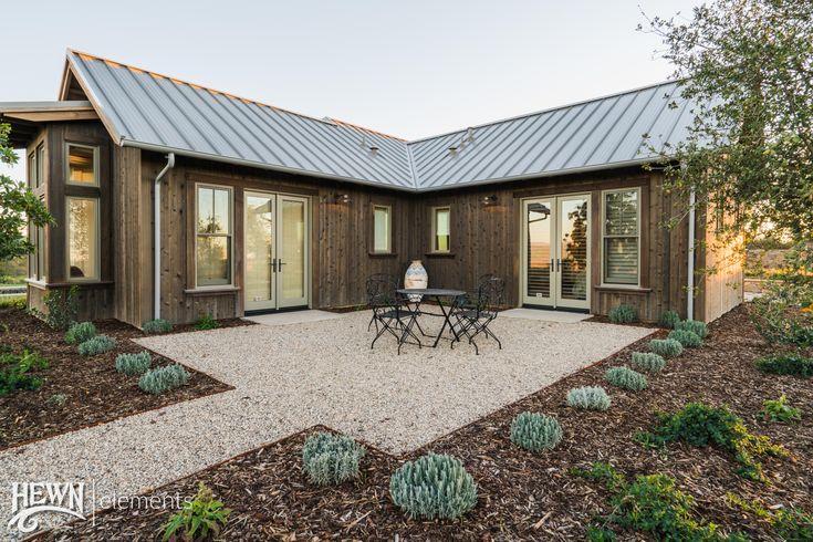 Exterior Cedar Siding Hewn Barn style house, Barn