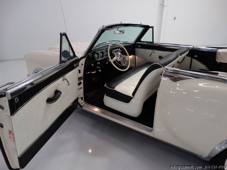 1953 PACKARD CARIBBEAN CONVERTIBLE 1 OF ONLY 750 MADE! JUST FRESHENED PREVIOUS FULL RESTORATION! CHROME WIRE WHEELS! 327-CUBIC-INCH STRAIGHT-8/180-HORSEPOWER! ULTRAMATIC TRANSMISSION! POWER STEERING! POWER BRAKES! POWER WINDOWS! POWER SEAT! POWER TOP! ORIGINAL OWNER'S MANUAL AND...
