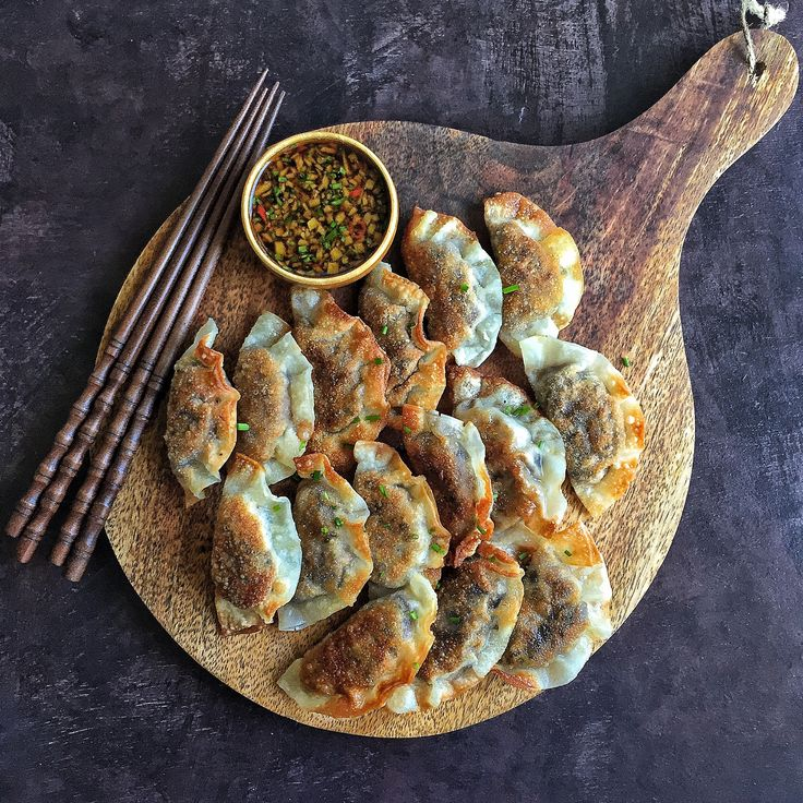 Miso Roasted Eggplant Gyoza add okinawan sweet potato