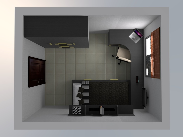 17 best images about dise o 3d habitaciones juveniles on for Programa diseno habitacion juvenil