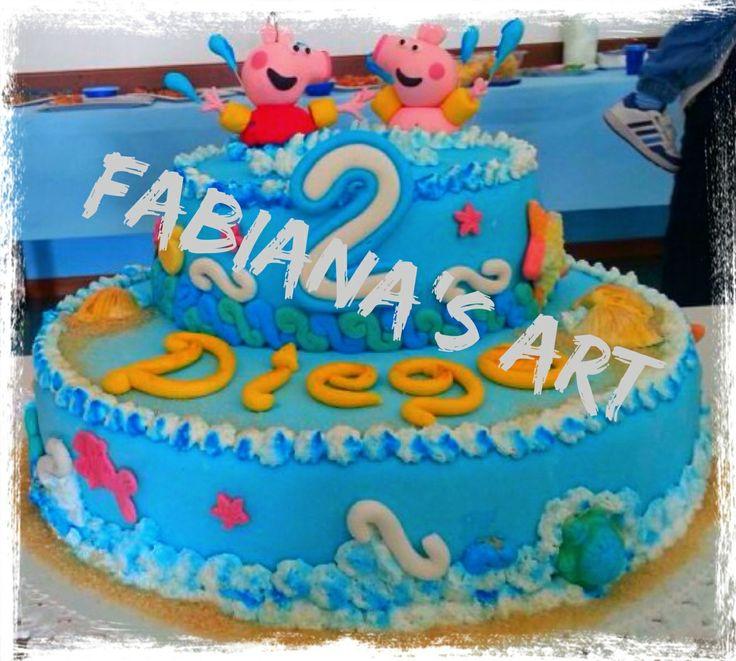 Prima torta di cake design x il mio piccolo amore e i suoi 2 anni!