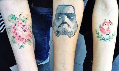 tatuaggi punto a croce