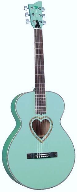 Tiffany Blue Guitar www.devinelockets.origamiowl.com