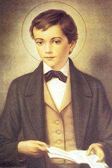 San Domenico Savio.fu un allievo di san Giovanni Bosco, morto quattordicenne. Nell'estate del 1856 scoppiò un'epidemia di colera,Domenico si distinse fra i volontari ma, ammalatosi a sua volta, morì, non ancora quindicenne, il 9 marzo 1857 fra le braccia dei genitori.