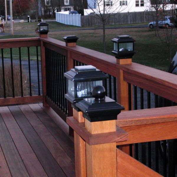 Polaris Solar Post Cap Light By Aurora Deck Lighting Deck
