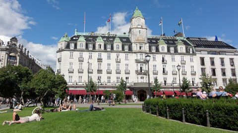 The Grand Hotel in Oslo, Norway. Stayed here summer 1989. Beautiful.