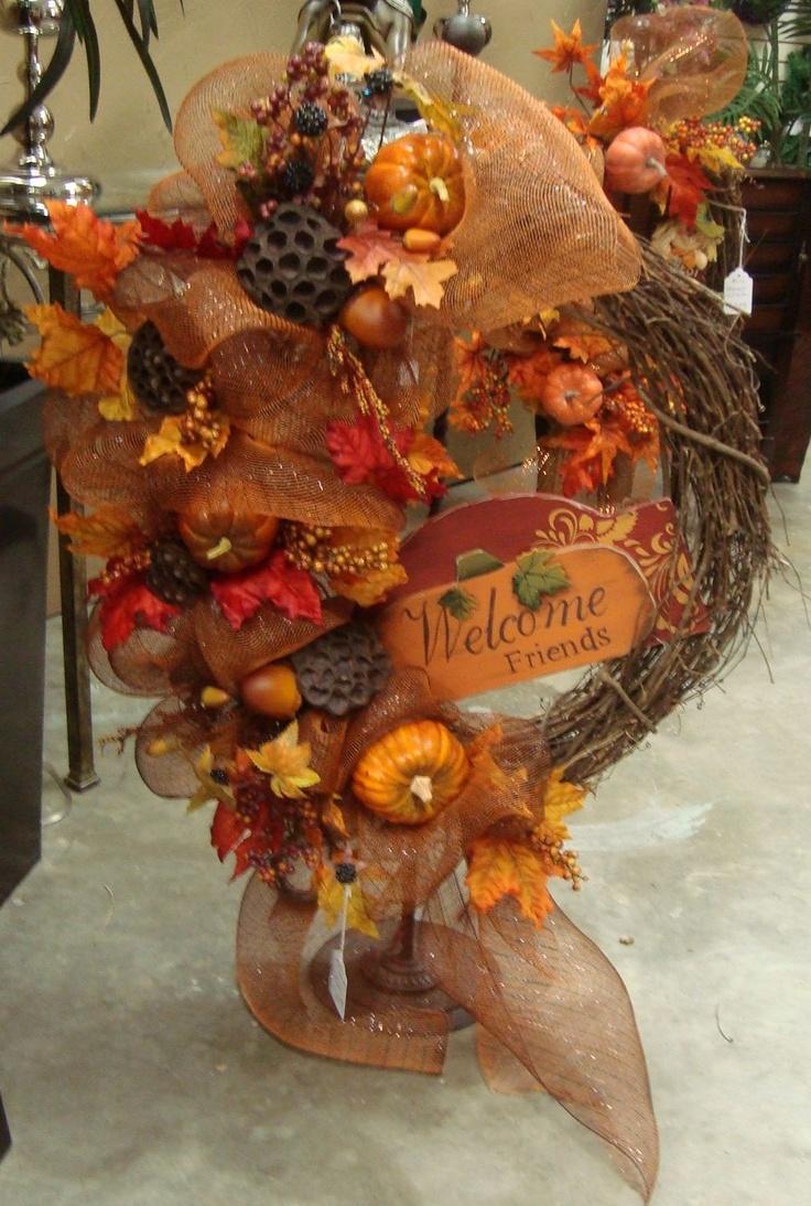 47 best Fall Wreaths \u0026 Arrangements images on Pinterest   Fall ...