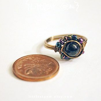 Galaxy Ring wire wrapped ring wire wrapped jewelry by littlestgem