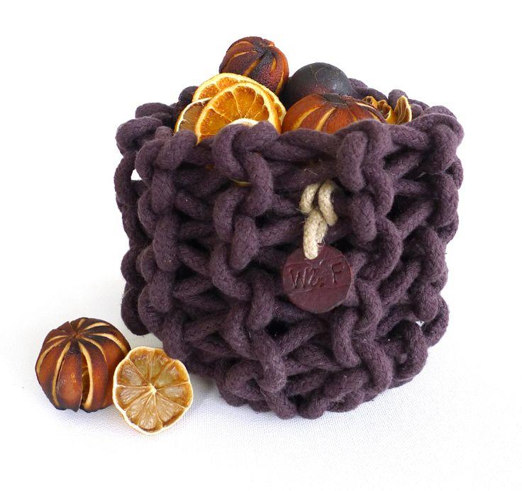 Cotton braid small basket and Christmas fruit
